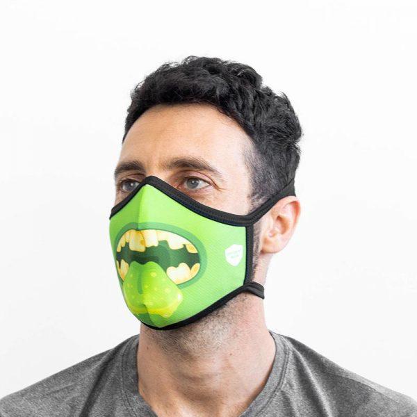 Mascarilla monstruo verde