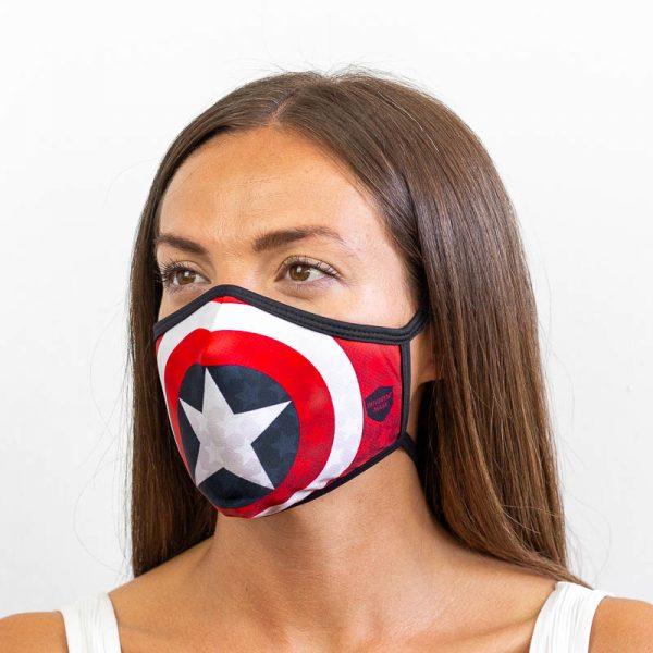 Mascarilla capitan america superheroe