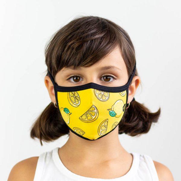 Mascarilla infantil de limones