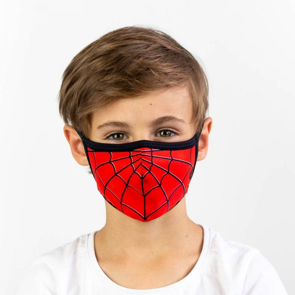 Mascarilla infantil spiderman