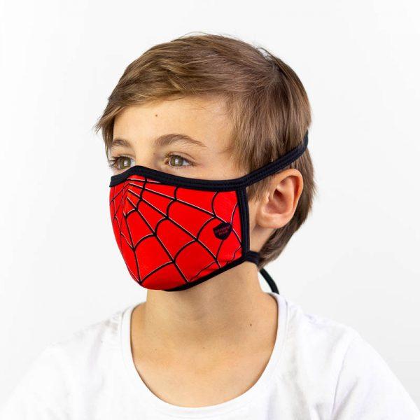Mascarilla infantil spiderman superheroe