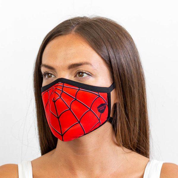 Mascarilla spiderman superheroe