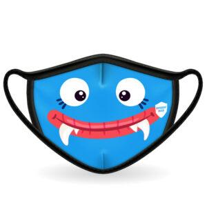 Mascarilla_Monstruo_Azul_Infantil_Delante