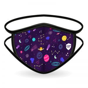 Mascarilla planetas universo