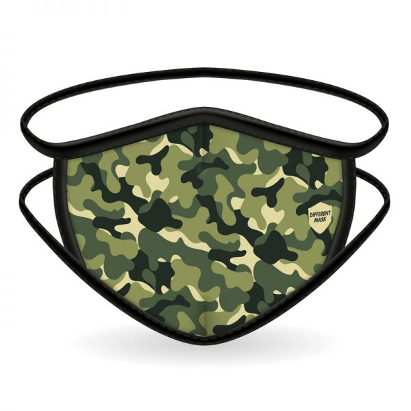 Mascarilla militar verde