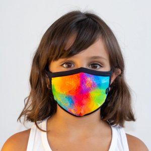 Mascarilla explosión de colores infantil