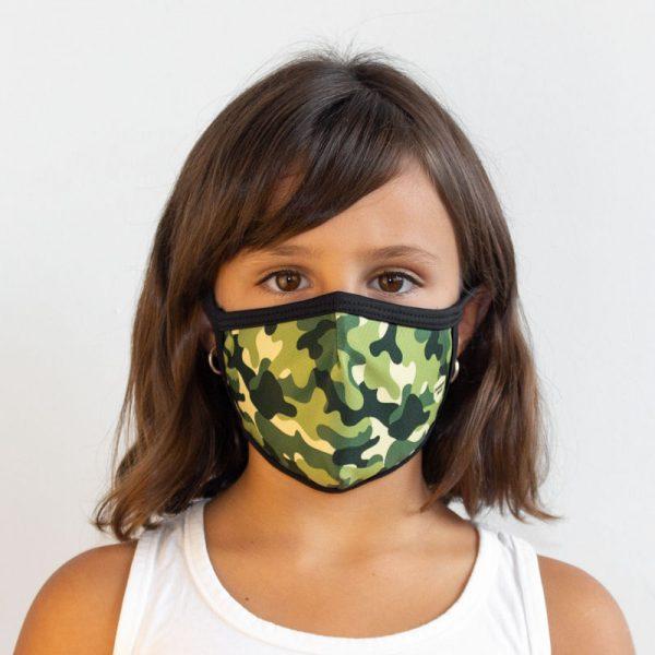 Mascarilla militar verde infantil
