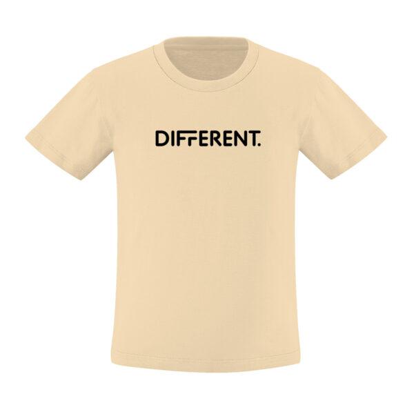 Camiseta_Infantil_Beige_Different
