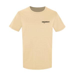 Camiseta_Unisex_Beige_Básica_Different